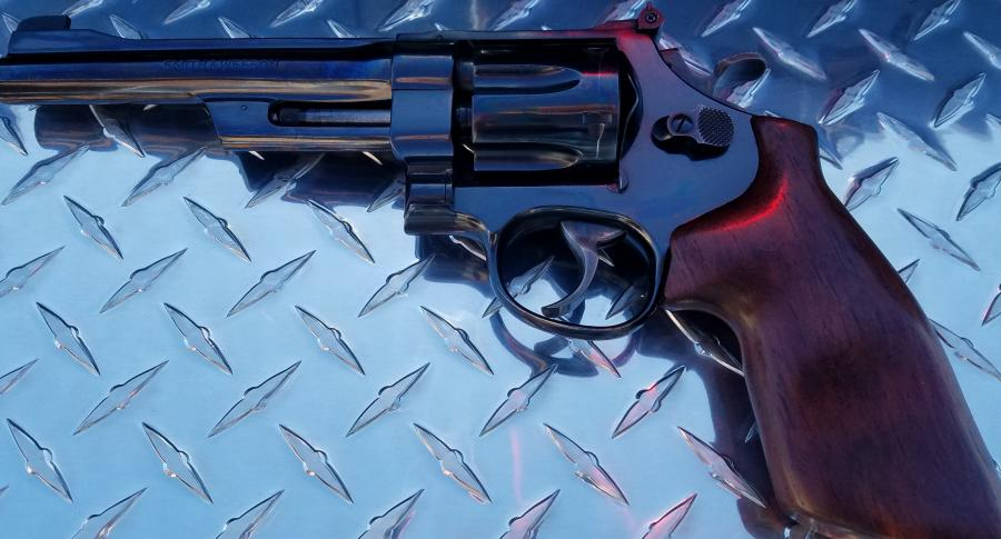 Name:  S&W 27 left side on tool box.jpg
